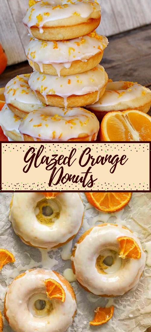 Glazed Orange Donuts #desserts #cakerecipe #chocolate #fingerfood #easy