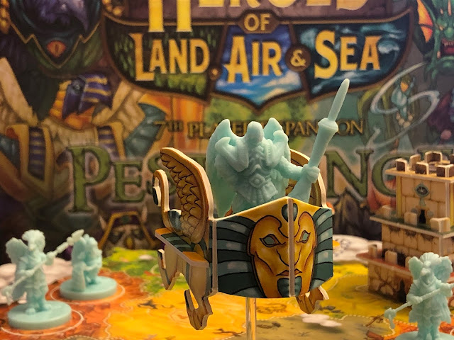 Heroes of Land, air & Sea Board Game Pestilence Expansion from Gamelyn Games Birdfolk Faction; Photo by Benjamin Kocher 2020