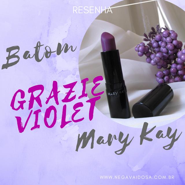 Capa: batom Grazie, Violet da Mary Kay na pele negra