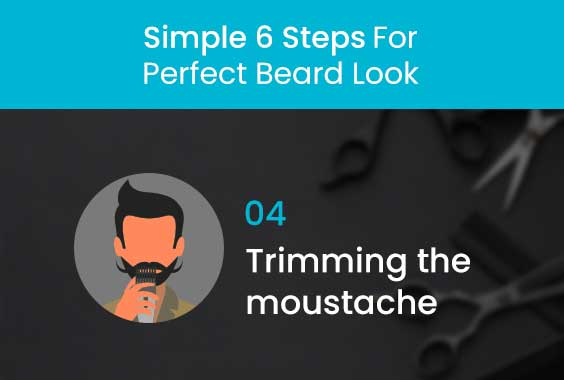 Trimming the moustache