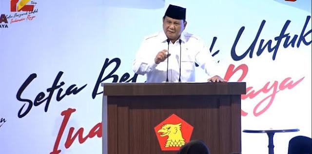 Sempat Dihina, Prabowo Bertekad Tetap Berjuang Untuk Rakyat Indonesia