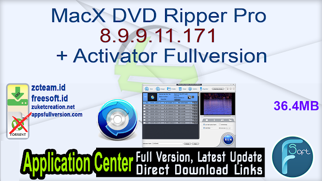 MacX DVD Ripper Pro 8.9.9.11.171 + Activator Fullversion