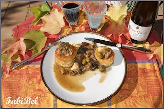 Recette d'automne veau aux olives et aux champignons
