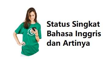 Status Singkat Bahasa Inggris dan Artinya