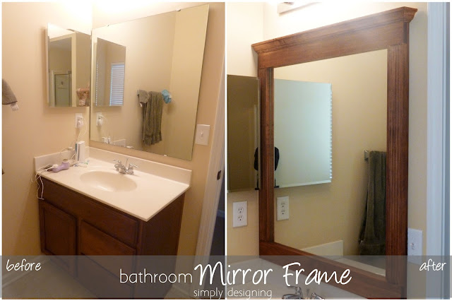 bathroom mirror before and after small Bathroom Mirror Re-Vamp {Part 2} 27