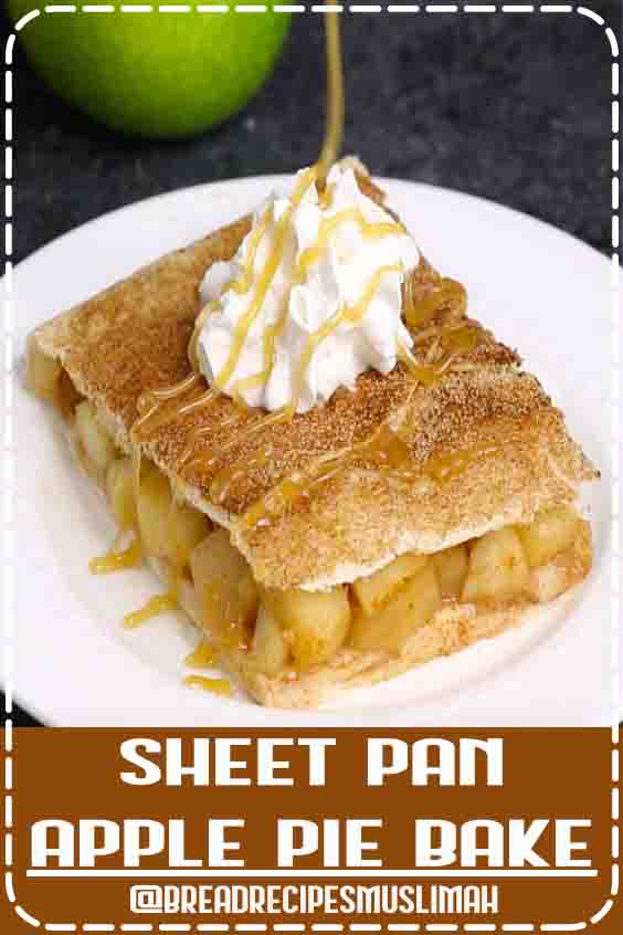 Sheet Pan Apple Pie Bake is perfect when you need a dessert to feed a crowd at a party or the entire family. It's so much easier to make than traditional apple pie. Serve it with ice cream, whipped cream or caramel sauce for an amazing dessert! #Sweet #Bread #Recipes