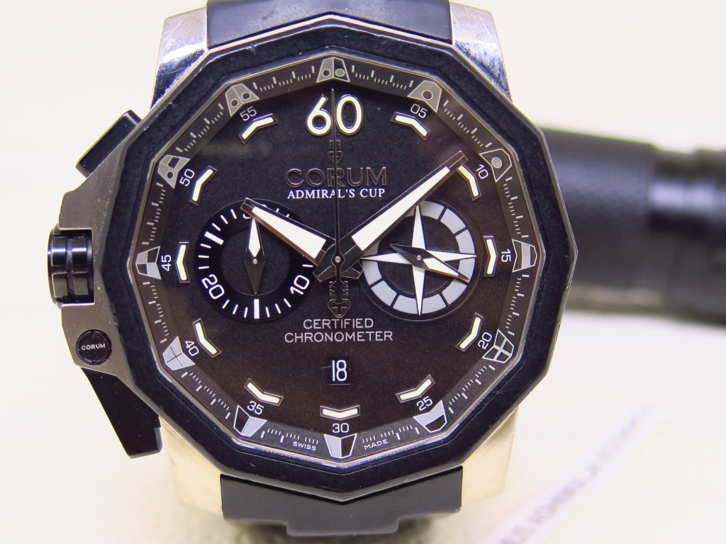 CORUM ADMIRALS CUP 50 LEFT HAND SIDED CHRONOGRAPH LIMITED EDITON 1 / 888