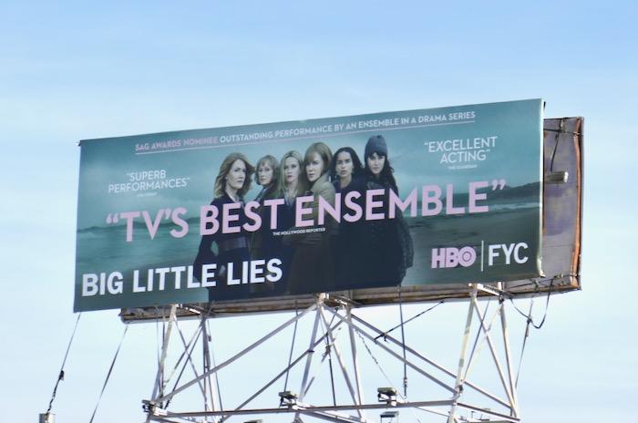Big Little Lies season 2 SAG Awards nominee billboard