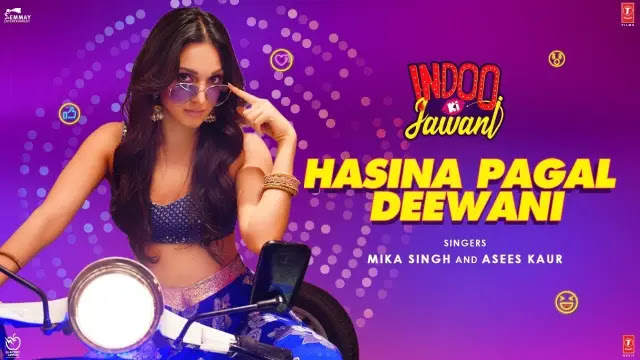 हसीना पागल दीवानी Hasina Pagal Deewani Hindi Lyrics – Indoo Ki Jawani