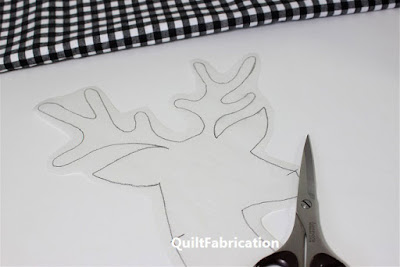 deer drawn on fusible web by QuiltFabrication