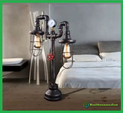Table Lamp Industrial Model Pipes