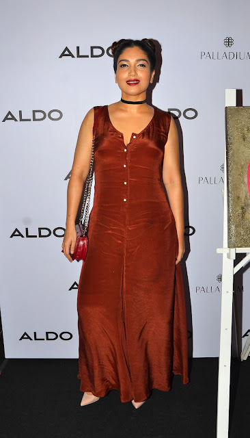 Bhumi Pednekar gracing her presence at ALDO's #ARTANDSOLES Fall'16 collection at the Palladium