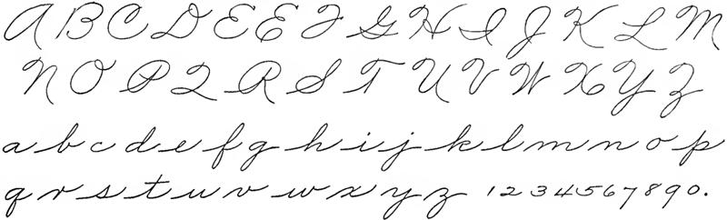 Palmer Handwriting Hand Writing