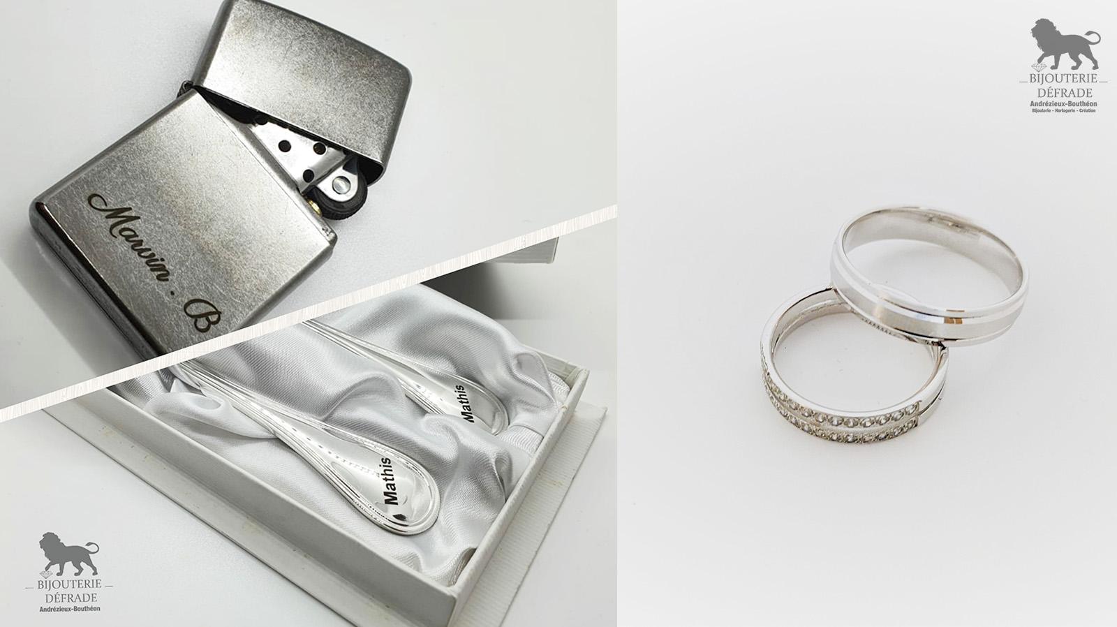 gravure de bijou et objet