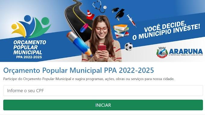 Prefeitura de Araruna inicia Orçamento Popular 2021 pela internet