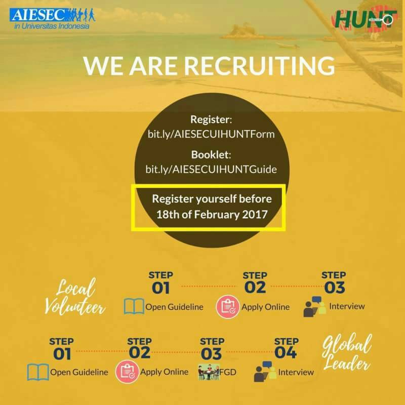 AIESEC UI IS RECRUITING
