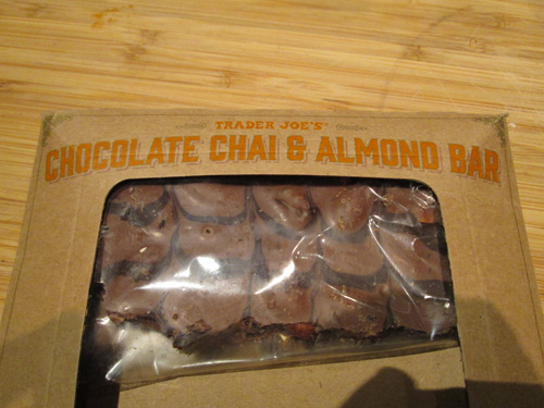 Trader Joe's Chocolate Chai and Almond Bar