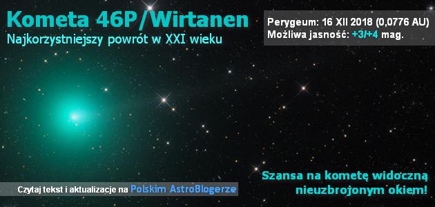 Kometa 46P/Wirtanen - bieżąco aktualizowane kompendium na najkorzystniejszy powrót w XXI wieku