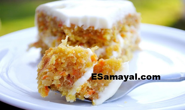 கேரட் - கோகனட் கேக் ரெசிபி செய்வது | Carrot - Coconut Cake Recipe !