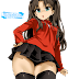 Tags: Render, Brown hair, Fate series, Fate stay night, Skirt, Small breasts, Stockings, Thigh Highs, Tohsaka Rin