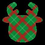 クリスマスのマーク(チェック・トナカイ)