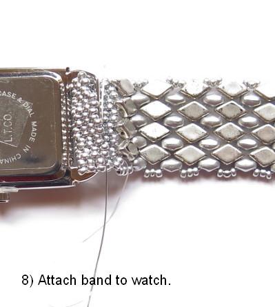 Free Two-hole Bead Watchband Pattern