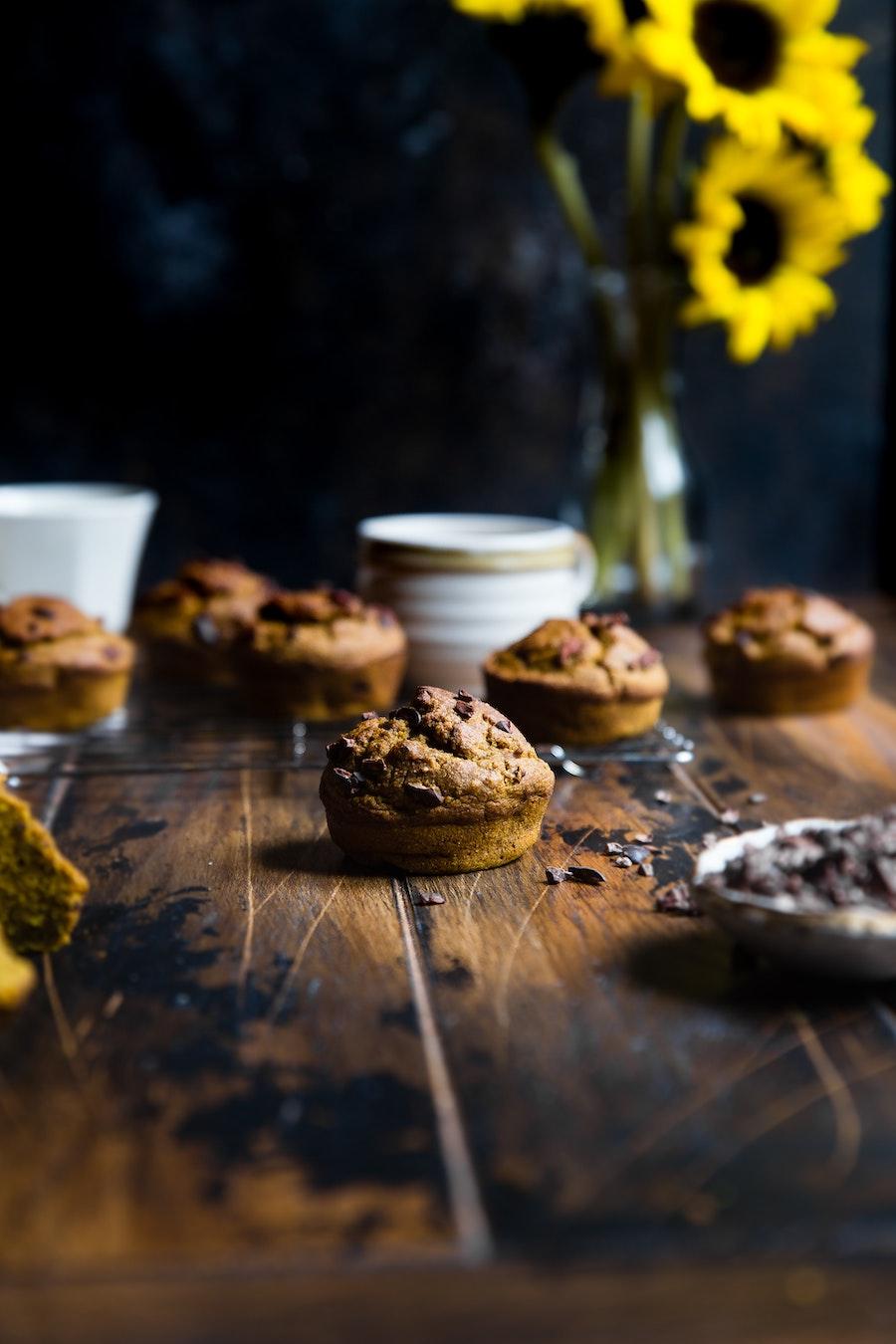 Receta de muffins de avena, manzana y plátano