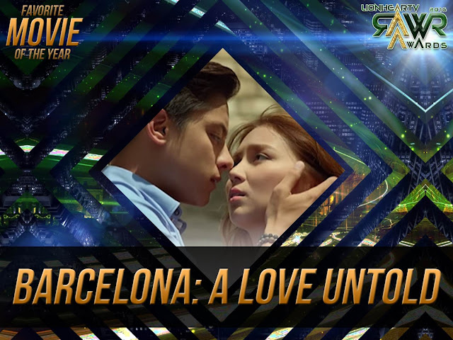 "CUB: KathNiel's ""Barcelona: A Love Untold"" bags Favorite Movie of the Year #RAWRAwards2016"