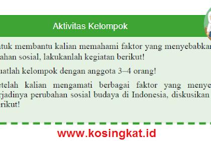 Kunci Jawaban IPS Kelas 9 Halaman 109 Aktivitas Kelompok