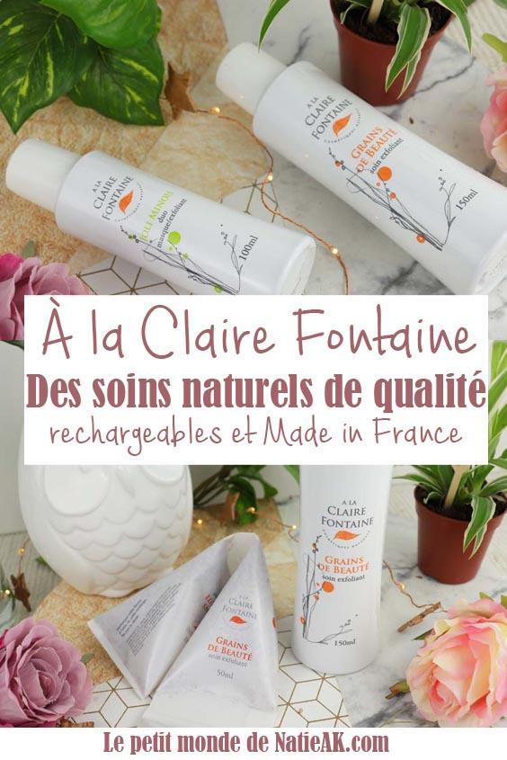 avis A la Claire Fontaine cosmetiques naturels et durables