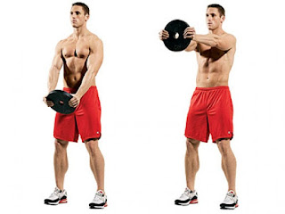 latihan weight plate exercise