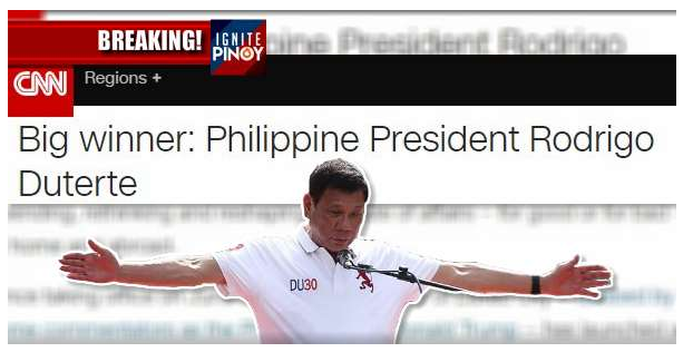 LOOK! Pres. Duterte, Hinirang Na BIG WINNER Ng CNN