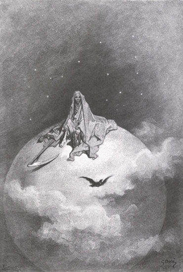 Gustave Doré 1832-1883 | Illustrations to Edgar Allan Poe's The Raven