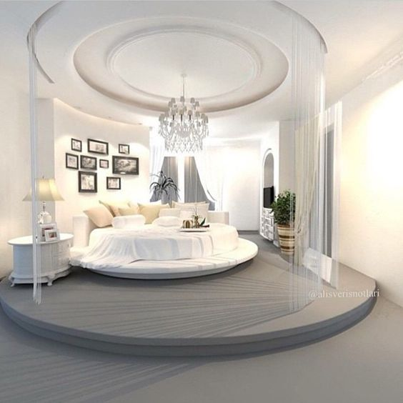 30 round beds that will spice up your bedroom for Bedroom designs round beds