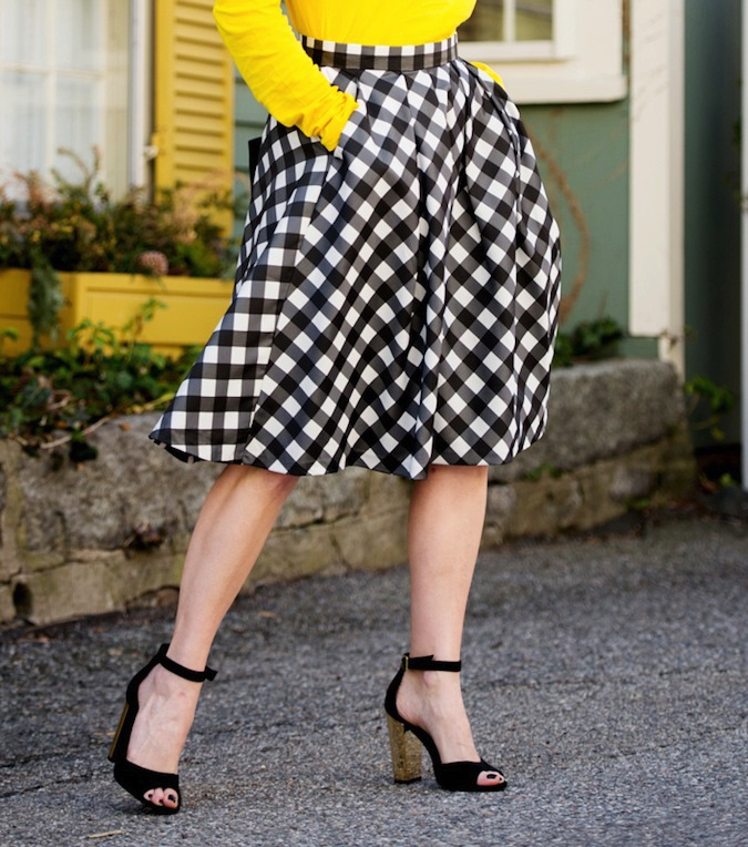 Talbots gingham skirt