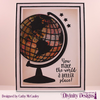 Stamp Set: Color My World  Custom Dies: Globe & Stand, Pierced Rectangles, Sparkling Stars