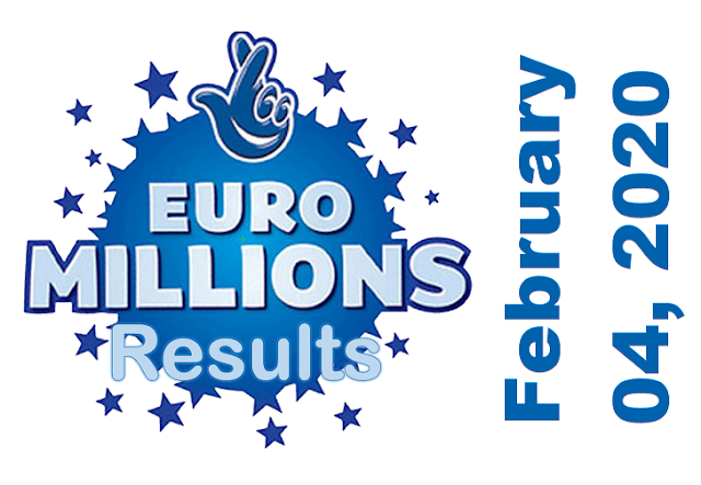 EuroMillions Results for Tuesday, February 04, 2020
