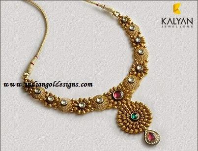 Gold And Diamond Jewellery Designs Kalyan Jewellers Designer Gold Necklace