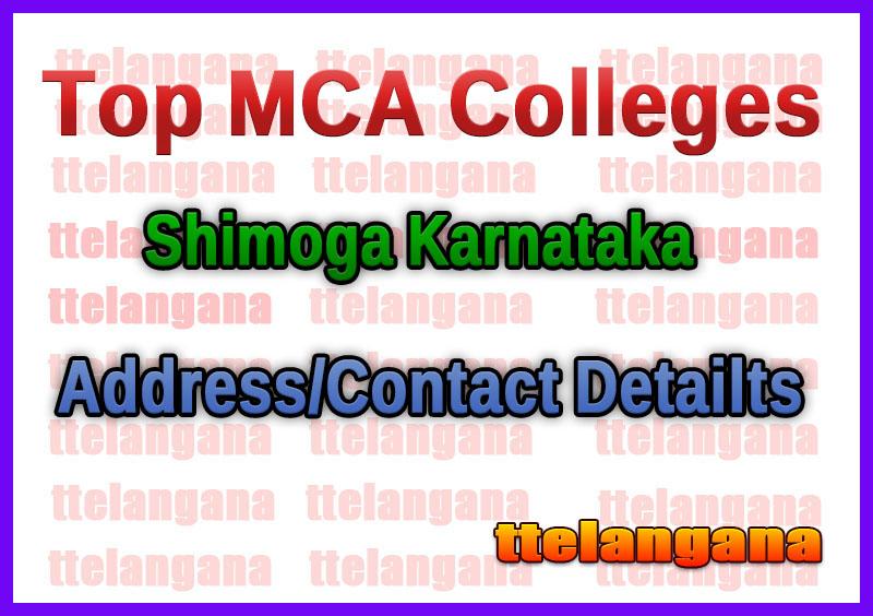 Top MCA Colleges in Shimoga Karnataka