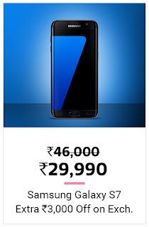Samsung Galaxy S7 Flat Rs 16000 Discount