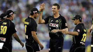 Josh Hazlewood 4-30 - Australia vs England 2nd T20I 2014 Highlights
