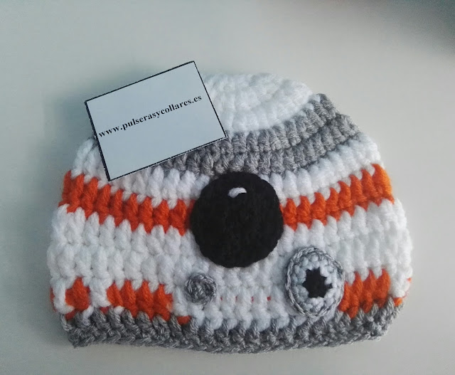 Gorro de lana BB8 de star wars