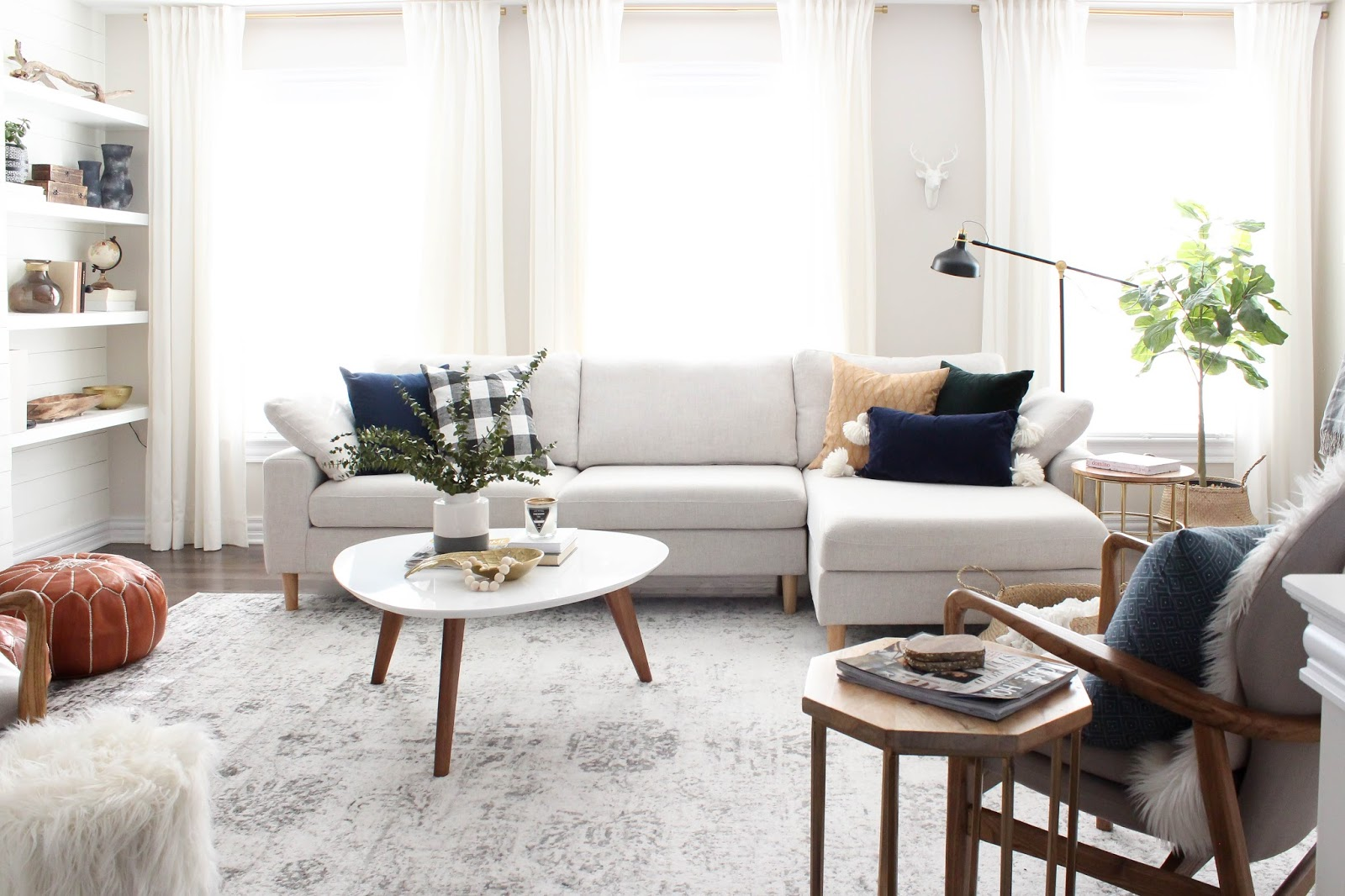 Family Room Makeover Reveal | house of hire