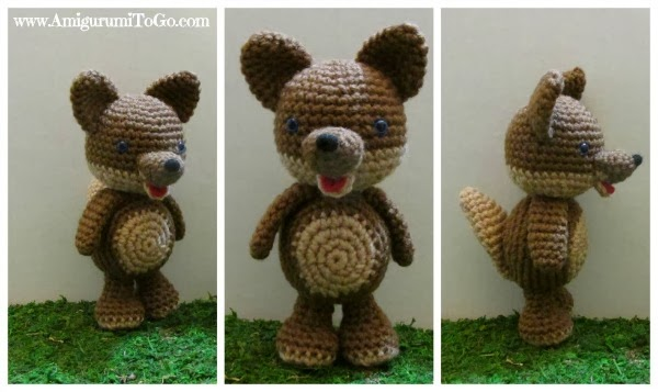 Wilson the Wolf amigurumi pattern by Theresas Crochet Shop ... | 357x600