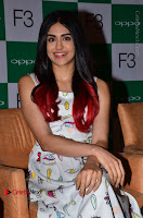 Bollywood Actress Adah Sharma Pos in White Printed Short Dress at OPPO F3 Plus Selfie Expert Mobile Launch .COM 0034.jpg