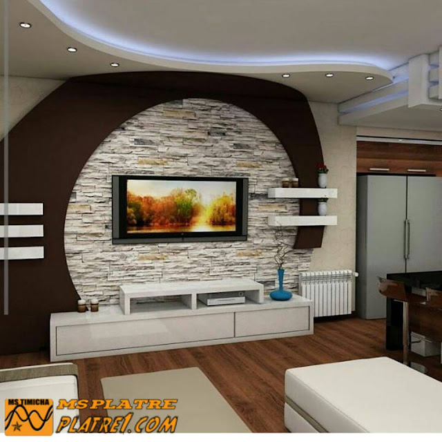 meuble tv en placoplatre ms timicha d coration pl tre plafond. Black Bedroom Furniture Sets. Home Design Ideas