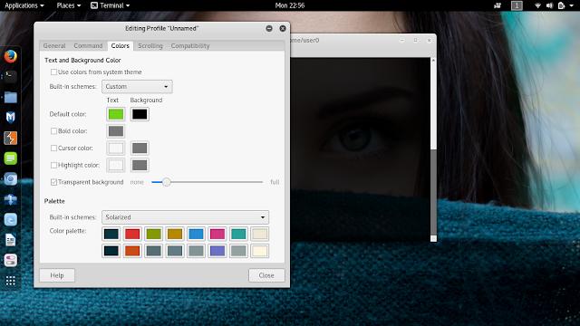 menu color terminal