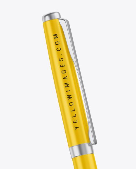 Matte Pen Metallic Finish Mockup