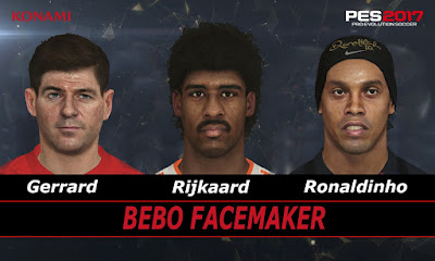 PES 2017 Faces Gerrard & Rijkaard & Ronaldinho by Bebo