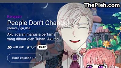 People Don't Change Webtoon